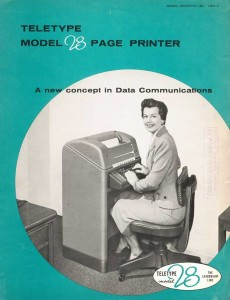 Teletype Model 28 Page Printer
