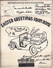 Easter Greetings from Rome WWII